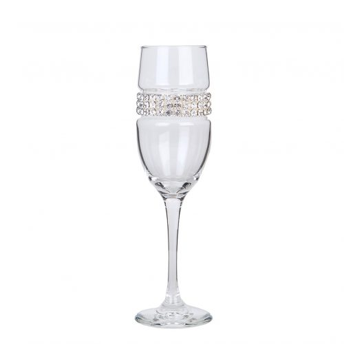 Bling Champagne Flute - Silver
