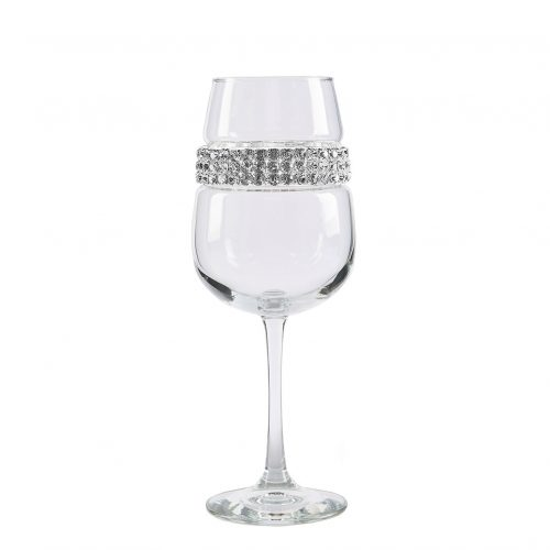 Bling Wine Glass - Silver