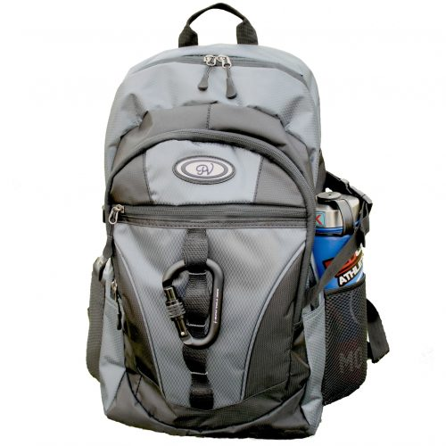 Day Pack Backpack Grey front