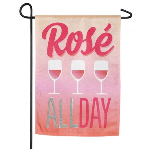 Rose All Day Garden Flag