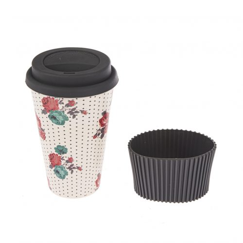 Travel Mug - Bamboo Fiber Black