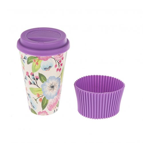 Travel Mug - Bamboo Fiber Purple