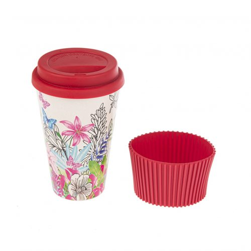 Travel Mug - Bamboo Fiber Red