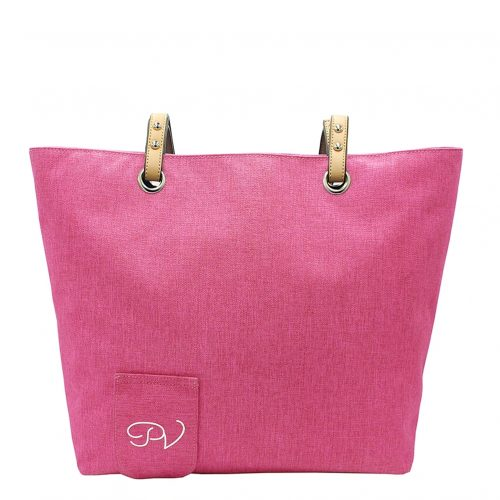 Wine Tote Pink back