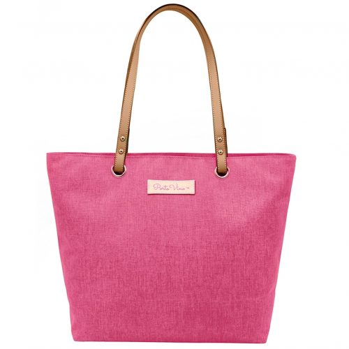 Wine Tote Pink front