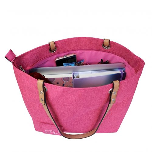 Wine Tote Pink full