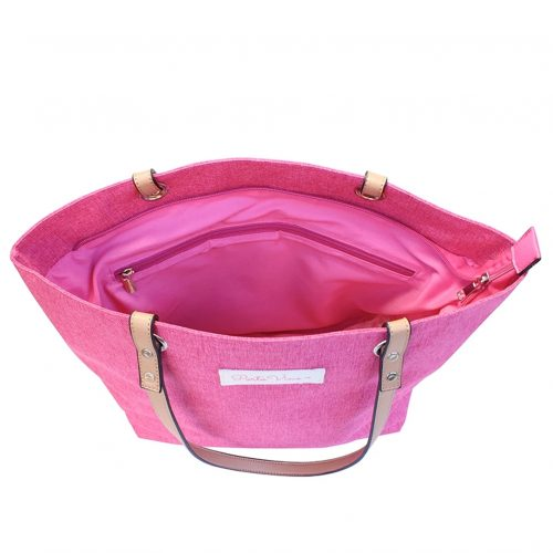 Wine Tote Pink open