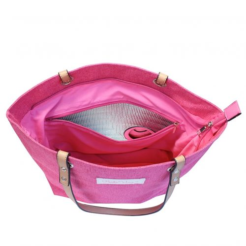 Wine Tote Pink pour