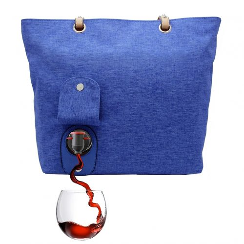Wine Tote Royal Blue