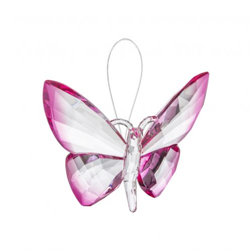 Hanging Dipped Butterflies Ornament Fuchsia acry-583_1