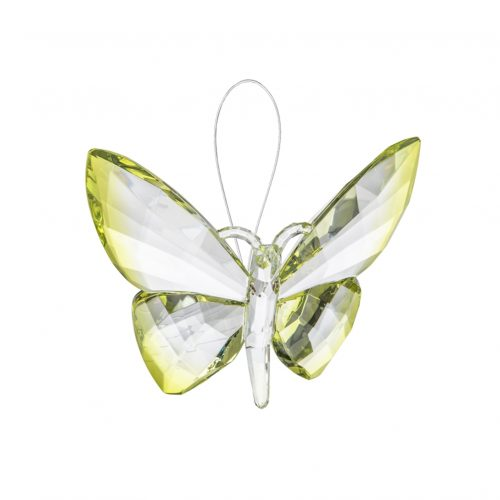 Hanging Dipped Butterflies Ornament Lime acry-583_3