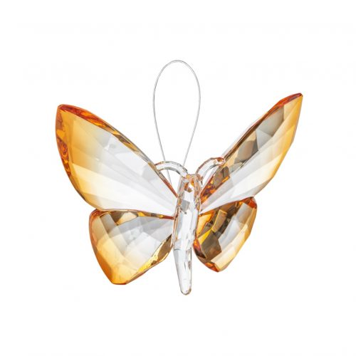 Hanging Dipped Butterflies Ornament Orange acry-583_6