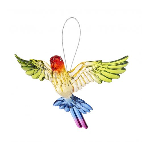 Tropical Parrot Ornament Rainbow