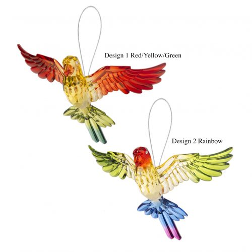 Tropical Parrots Ornament